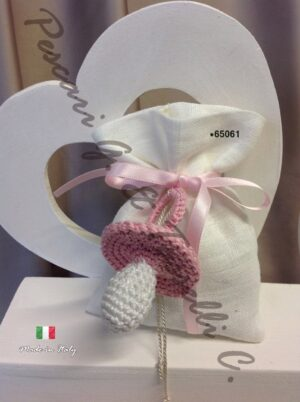 Bomboniere Ciuccio Femmina Lino Panna 65061