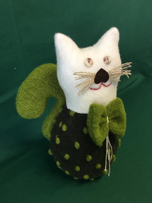 Lana Cotta Gattone Pois Verde
