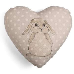 Coniglio cuscino cuore