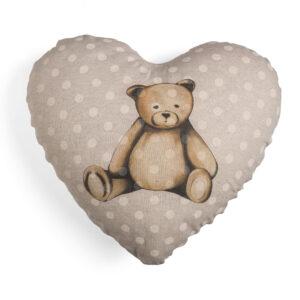 Orso cuscino cuore