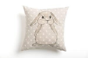 Coniglio cuscino arredo
