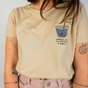 """T-Shirt Donna Ligth Sand """"Acqua"""""""