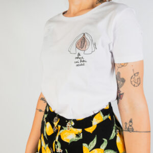 "T-Shirt Donna Bianca ""Fichi Secchi"""