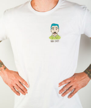 """T-Shirt Uomo """"Bada Chiè"""" Bianca"""