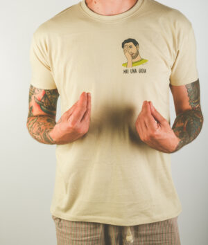 "T-Shirt Uomo ""Mai una gioia"" Sand"