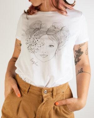 Elfa fiore occhio maglia donna
