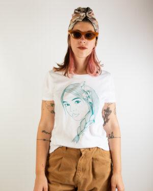 T-Shirt Donna Elfa Treccia Ottanio