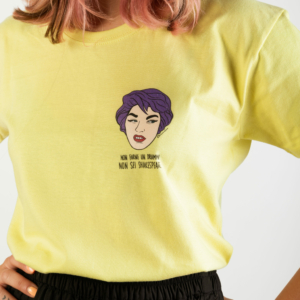 "T-Shirt Lemon Yellow Donna ""Dramma"""