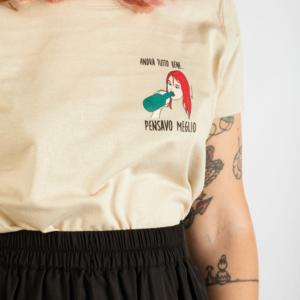 "T-Shirt Donna ""Pensavo Meglio"" Sand"