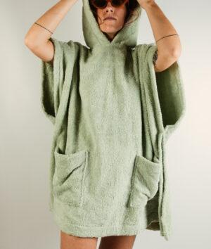 Poncho donna Verde chiaro