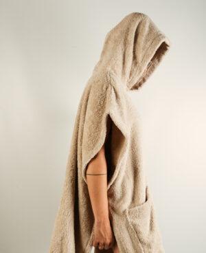 Poncho donna Sabbia