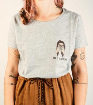 """T-Shirt Donna """"Non ce la posso fare"""" Oxford Grey"""