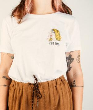 """T-Shirt Donna """"C'ho fame"""""""