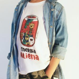 "T-Shirt Bambini ""Energia Aliena"" Bianca"