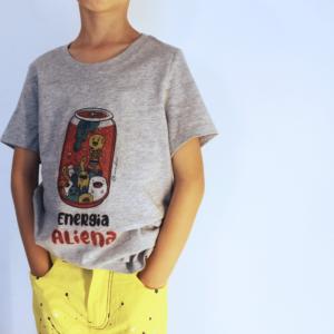 "T-Shirt Bambini ""Energia Aliena"" Grey"