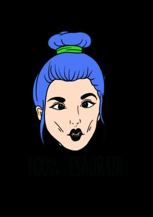 """T-Shirt Donna """"Esaurita"""" Bianca"""