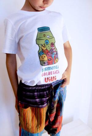 "T-Shirt Bambini ""Fermenti Galattici"" Bianca"