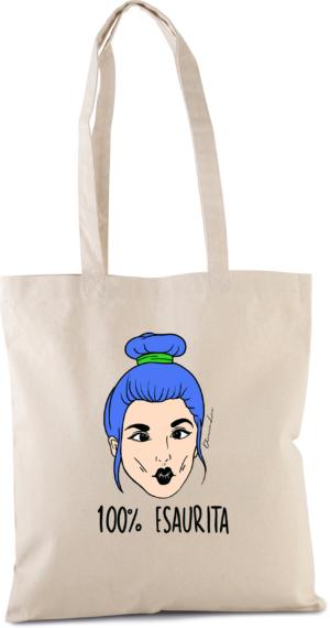 """Shopper Canvas con Manici """"ESAURITA"""""""