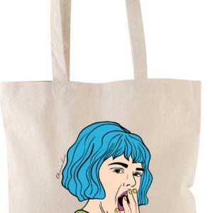 """Shopper Canvas con Manici """"Molto Interessante"""""""