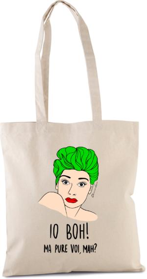 """Shopper Canvas con Manici """"IO BOH"""""""