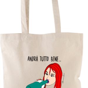 """Shopper Canvas con Manici """"TUTTO BENE"""""""